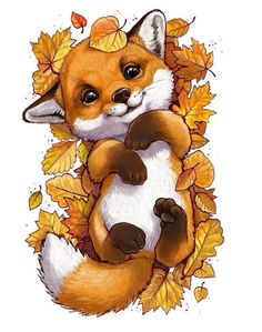 Tierillustration Tiere Tiere Best Picture For funny photo clean For Your Ta Cute Animal Drawings, Cute Drawings, Cute Fox Drawing, Drawing Animals, Puppy Drawing, Pencil Drawings, Halloween Art Projects, Halloween Drawings, Halloween History
