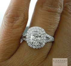Double Halo engagement ring....Diamonds by lauren $4,995
