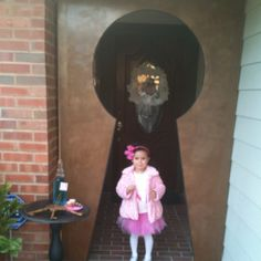 Giant DIY key hole entry for Alice and wonderland party