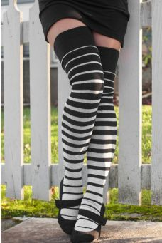Girls Womens Philippines Retro 1970s Style Over Knee Thigh High Stockings Fashion Socks One Size