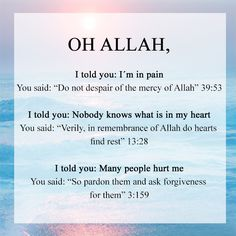 Allah (s.w.t ) has everytime an answer for you!