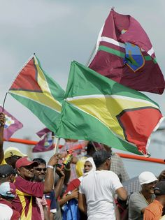 West Indies v Pakistan 1st ODI: The fans came out and brought their Guyana and West Indies flags with them.