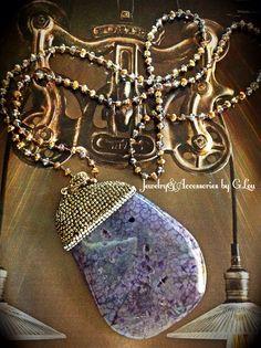 New Arrive!Beautiful Necklace.Turkish Jewelry.Silver 925.Marquesite.Purple Agate.TurkishJewelry#BeautifulNecklace#Marquesite#PurpleAgate#HandMadeJewelry#Agate#JoyeriaHechaaMano#FashionJewelry#ByGLouJewelry#