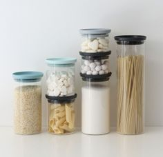 Brabantia Stackable Glass Food Storage Containers Set of 3 for sale online