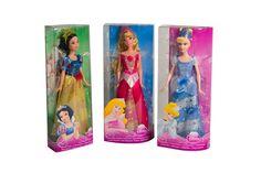 Princesas de Disney, Blancanieves, La Bella Durmiente y Cenicienta.