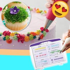 Cake Decorating Frosting, Frosting Tips, Cake Decorating Videos, Cake Decorating Techniques, Cookie Decorating, Cake Icing, Eat Cake, Cupcake Cakes, Cupcake Piping