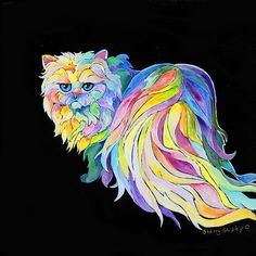 ANGEL IN THE MORNING 8x10 CAT Art Print by Sherry Shipley