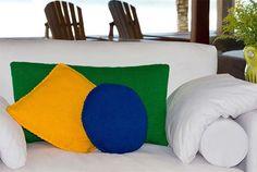 Jogo com 3 Almofadas Bandeira Brasil – Cisne D'Primera