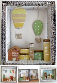 Wooden and paper dreams by Angela Fattori (Imaginative Bloom) Angela Fattori A volte sogno 5 Wooden and paper dreams by Angela Fattori Cardboard Crafts, Paper Crafts, Cardboard Houses, Diy For Kids, Crafts For Kids, Art Projects, Projects To Try, Diy And Crafts, Arts And Crafts