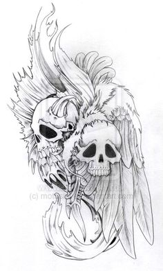 demon drawings | Demon and Angel by ~motoslave on deviantART