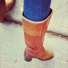 vintage frye boots from the 70s