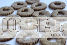 Homemade Dog Treats:  1 cup Peanut Butter  1 cup Milk  1 Ripe Banana  2 Cups Whole Wheat Flour  1 tbsp Baking Powder