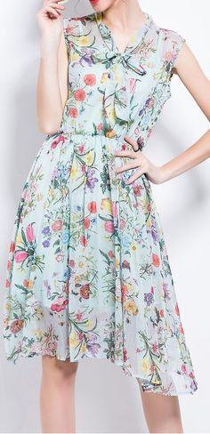 bow tie floral dress