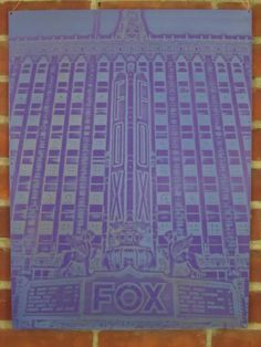 Fox Theater in Detroit on etched metal panel