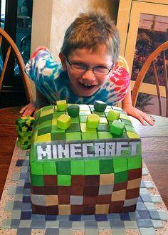 Minecraft Logo Cake