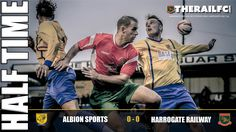HT: Albion Sports 0-0 Harrogate Railway    @AlbionSportsAFC @therailfc #NCEL #FA