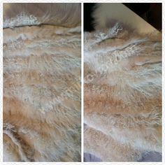 Мир Ковров UA: Мех ламы в комбинации с мехом кролика рекса, цвет беж