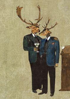 Fancy Deer Art Print  $12  www.pergamopapergoods.com