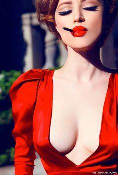 200 Imagens de Vestidos Vermelhos de Festa para Inspirar Você! - Vestidos de Festa