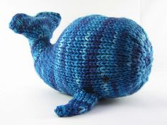 Willa the Whale Knitting Pattern PDF - what a cute toy to cuddle up with!