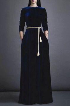 Floor-Length Velvet Prom Dress DEEP BLUE: Maxi Dresses | ZAFUL
