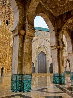 Mezquita de rey Hassan, Casablanca, Marruecos