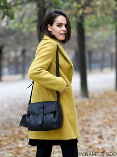 Look Urban Chic, Sud Express, Yellow Coat, Nyc, Trench, Casual, Sportswear, Turtle Neck, Sweaters