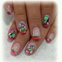 Lindas uñas! Fabulous Nails, Spring Nails, Toe Nails, All The Colors, Nail Art Designs, Beauty, Nail Arts, Nail Bling, Finger Nails