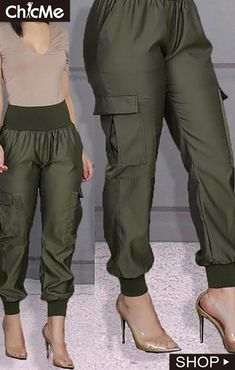 Cargo Shorts Women, Cargo Pants Outfit, Trousers Women, Casual Pants, Pants For Women, African Print Pants, Fashion Pants, Fashion Outfits, Cool Outfits