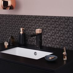 Is it possible to fall in love with tapware? Because last night, I certainly did, flicking through @dorfaustralia 's website and stumbling upon this beauty. Introducing the Epic Bloc Metallic Basin Mixer in black/rose gold. Catwalk inspired, this luxe and stunning design is like 'jewellery' for your bathroom. Collaboration series, designed by Phillippa Carnemolla. #rosegold #metallic #tapware #tapwaredesign #Dorf #PhillipaCarnemolla #bathroomdesign #epicblocmixer #design #iLoveDesign…