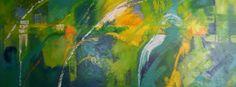 Cuadro en acrilico espatulado sobre lienzo 70x180