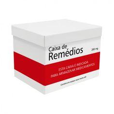 Caixa organizadora e super prática para você guardar medicamentos e curativos e facilitar na hora que precisar deles.