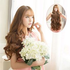 "Free Shipping New 29"" Women Ladies Long Curly Wavy 6 Clips In On Hair Extensions Full Head  Price: US $6.46 - 6.56 / piece"