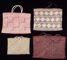 Vegetable-fibre (kiekie, Freycinetia baueriana) plaited basket (kete)…