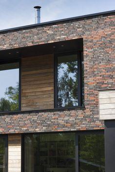 MAVE 11 Wortel - LV-architecten Modern Window Design, Modern Windows, Modern House Design, Modern Brick House, Brick Houses, Brick Works, Ramen, Exterior, Places