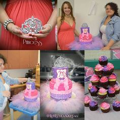 Final look of the princess baby shower cake! What a beautiful baby shower it was! Thank you Kristal Nicole and Pj Cerda for having me do your cake! It was my pleasure to make it special for you 💖  #princesscake #princess #cake #caketastic #cakedecorator #cakeoftheday #sparkle #wakeandcake #pinkbow #monogram #fondant #cakeart #artofinstagram #fondantart #fondantbow #fondantmonogram #buttercreamcake #morebutter #wakeandbake #cakeit #missioncomplete #babyshower #babyshowercake #cupcakes