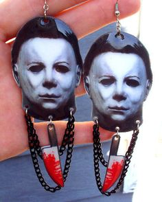 Hey, I found this really awesome Etsy listing at https://www.etsy.com/listing/190276532/michael-myers-earrings-halloween-1978