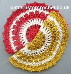 Free crochet pattern for round cotton dishcloth http://www.patternsforcrochet.co.uk/round-dishcloth-usa.html #patternsforcrochet