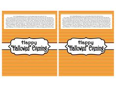 Happy Hallowed Evening Candy Bar Labels