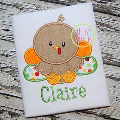 I2S Baby Turkey 2 Applique design