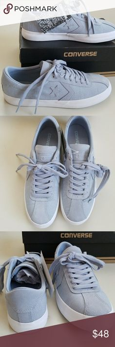 NWT Converse Unisex W=9.5, M=8 New super cool Converse for women or men. Cushy footbed for all day comfort. Color is blueish gray. Converse Shoes Sneakers