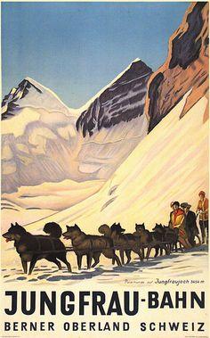 Vintage Travel Poster:  Bahn, Switzerland