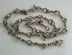Vintage TAXCO MEXICO Sterling Silver 47.2  Gram Chain Necklace or 3 Bracelets