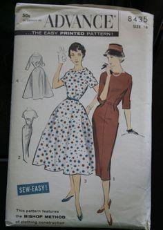1950s or 1960s Vintage Sewing Pattern  Advance von TheWayWeWear