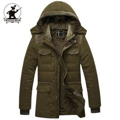 76.60$  Watch here - http://ali904.worldwells.pw/go.php?t=32504889131 - New Men's fleece Winter Coats Fashion Hooded Thickened Quilted Jacket Men Designer Casual Plus Size Parka Jacket M~3XL D8F1