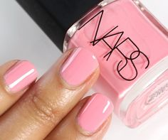 NARS pink nail polish....wedding nails with something sparkly on ring finger? help Eric find the right finger LOL