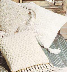 Pillow Knitting Patterns - Aran, Fair Isle and more. via Etsy.