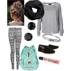 This is such a great outfit.  I have similar leggings that I'm planning on wearing to school.