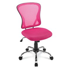 Brenton Studio Mesh Mid Back Chair PinkBlack by Office Depot   OfficeMax be34bea1c