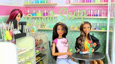 How to Make a Doll Sweet Shop, tutorial from My froggy stuff! This Mom ROCKS....